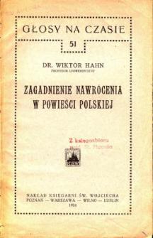 Zagadnienie nawrócenia w powieści polskiej