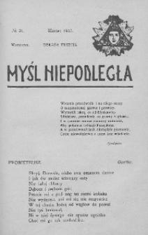Myśl Niepodległa 1907 nr 21