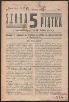 Szara Piątka : miesięcznik młodzieży harcerskiej w Rzeszowie
