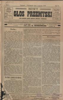 Nowy Głos Przemyski : pismo poświęcone sprawom społecznym, politycznym i ekonomicznym. 1906, R. 4, nr 1-5 (styczeń)