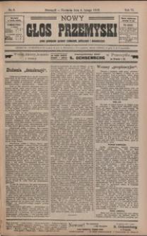 Nowy Głos Przemyski : pismo poświęcone sprawom społecznym, politycznym i ekonomicznym. 1906, R. 4, nr 6-9 (luty)