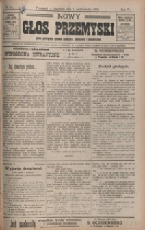 Nowy Głos Przemyski : pismo poświęcone sprawom społecznym, politycznym i ekonomicznym. 1906, R. 4, nr 41-44 (październik)