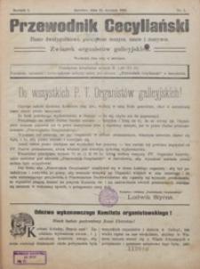 Przewodnik Cecyliański : pismo dwutygodniowe, poświęcone muzyce, nauce i rozrywce. 1902, R. 1, nr 1-7
