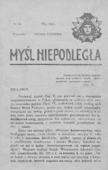 Myśl Niepodległa 1907 nr 25