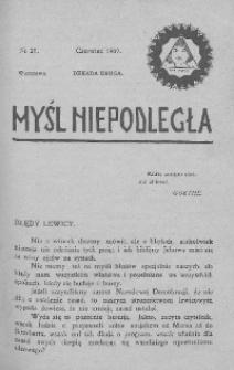 Myśl Niepodległa 1907 nr 29