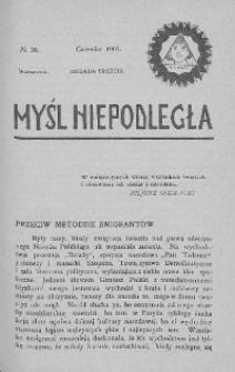 Myśl Niepodległa 1907 nr 30