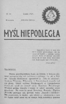 Myśl Niepodległa 1907 nr 32