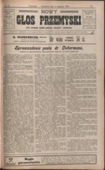 Nowy Głos Przemyski : pismo poświęcone sprawom społecznym, politycznym i ekonomicznym. 1908, R. 6, nr 31-34 (sierpień)