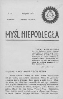 Myśl Niepodległa 1907 nr 36