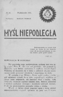 Myśl Niepodległa 1907 nr 42