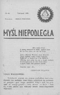 Myśl Niepodległa 1907 nr 43