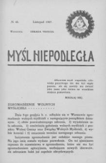 Myśl Niepodległa 1907 nr 45