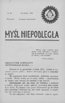 Myśl Niepodległa 1907 nr 46