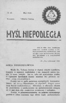 Myśl Niepodległa 1908 nr 62