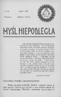 Myśl Niepodległa 1908 nr 68