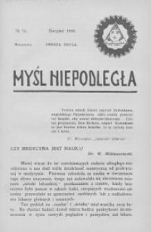 Myśl Niepodległa 1908 nr 71