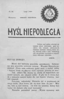 Myśl Niepodległa 1909 nr 88