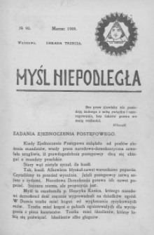 Myśl Niepodległa 1909 nr 93