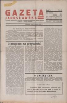 Gazeta Jarosławska : tygodnik poświęcony sprawom gospodarczo-społecznym miasta i powiatu. 1936, R. 5, nr 1-4 (styczeń)
