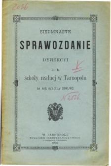 Sprawozdanie Dyrekcyi C. K. Szkoły Realnej w Tarnopolu za rok szkolny 1891/92
