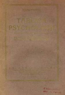 Tablica psychologji : poprzedzona rozprawą wstępną z apodyktyki pt. Prawo stworzenia albo Autogenja rzeczywistości