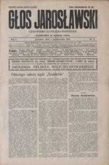 Głos Jarosławski : czasopismo katolicko-narodowe. 1927, R. 1, nr 5-9 (październik)
