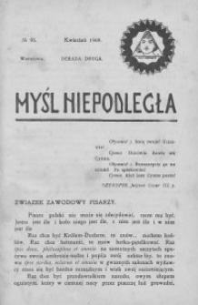 Myśl Niepodległa 1909 nr 95