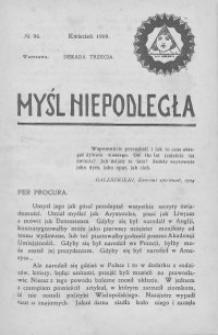 Myśl Niepodległa 1909 nr 96