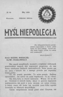 Myśl Niepodległa 1909 nr 98