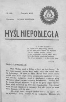 Myśl Niepodległa 1909 nr 100
