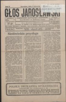 Głos Jarosławski : czasopismo katolicko-narodowe. 1928, R. 2, nr 30-33 (sierpień)