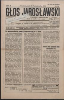 Głos Jarosławski : czasopismo katolicko-narodowe. 1928, R. 2, nr 39-42 (październik)