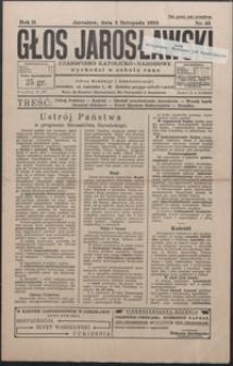 Głos Jarosławski : czasopismo katolicko-narodowe. 1928, R. 2, nr 43-46 (listopad)