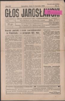 Głos Jarosławski : organ Stronnictwa Narodowego. 1929, R. 3, nr 1-4 (styczeń)