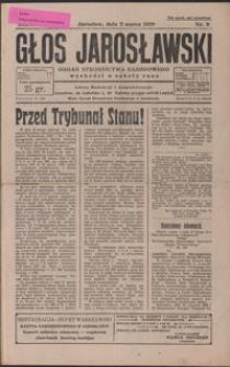 Głos Jarosławski : organ Stronnictwa Narodowego. 1929, R. 3, nr 9-13 (marzec)
