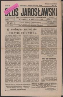 Głos Jarosławski : organ Stronnictwa Narodowego. 1929, R. 3, nr 22-26 (czerwiec)