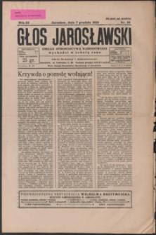 Głos Jarosławski : organ Stronnictwa Narodowego. 1929, R. 3, nr 49-52 (grudzień)