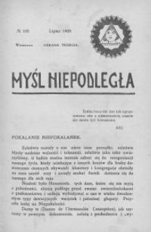 Myśl Niepodległa 1909 nr 105