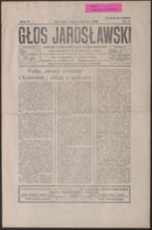Głos Jarosławski : organ Stronnictwa Narodowego. 1930, R. 4, nr 5-8 (luty)