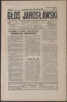 Głos Jarosławski : organ Stronnictwa Narodowego. 1930, R. 4, nr 14-17 (kwiecień)