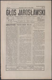 Głos Jarosławski : organ Stronnictwa Narodowego. 1930, R. 4, nr 18-22 (maj)