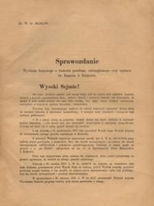 Sprawozdanie Wydziału krajowego o budowie pawilonu chirurgicznego przy szpitalu św. Łazarza w Krakowie