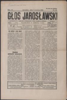 Głos Jarosławski : organ Stronnictwa Narodowego. 1930, R. 4, nr 23-26 (czerwiec)