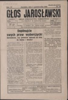 Głos Jarosławski : organ Stronnictwa Narodowego. 1930, R. 4, nr 40-43 (październik)