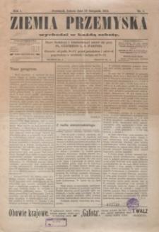 Ziemia Przemyska. 1913, R. 1, nr 1-7
