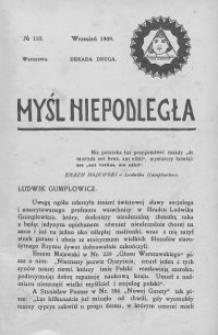 Myśl Niepodległa 1909 nr 110