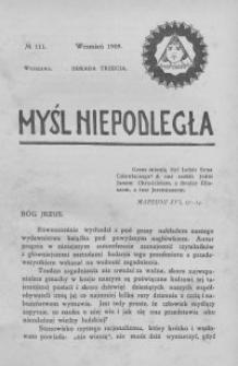 Myśl Niepodległa 1909 nr 111