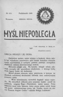 Myśl Niepodległa 1909 nr 113