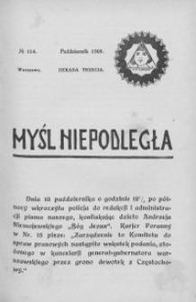 Myśl Niepodległa 1909 nr 114