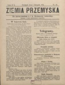 Ziemia Przemyska. 1914, R. 2, nr 45-61 (listopad)